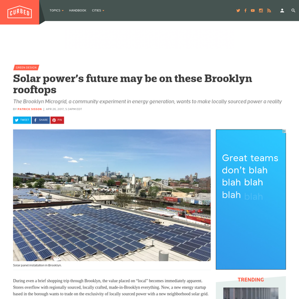 The Brooklyn Microgrid, a community experiment in energy generation, wants to make locally sourced power a reality
