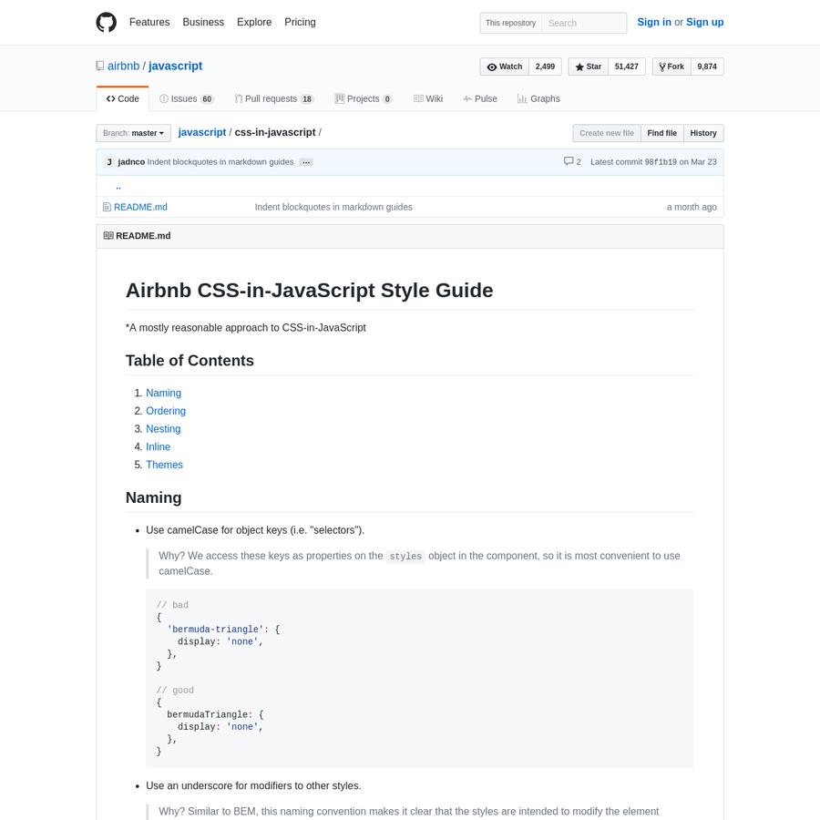 javascript - JavaScript Style Guide