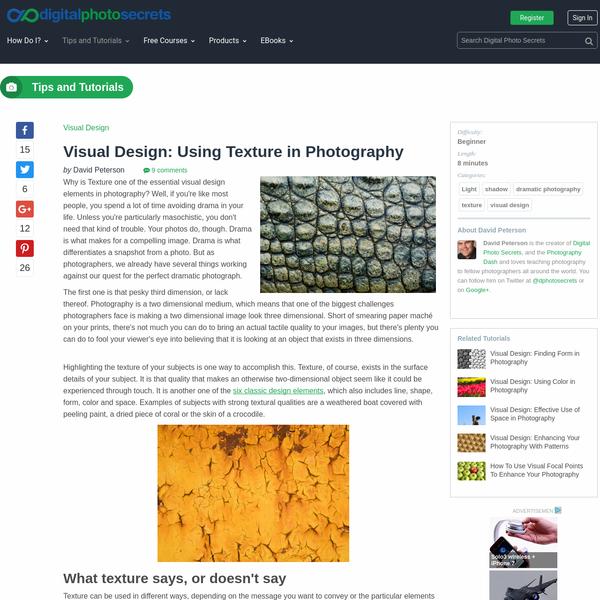 Visual Design: Using Texture in Photography :: Digital Photo Secrets