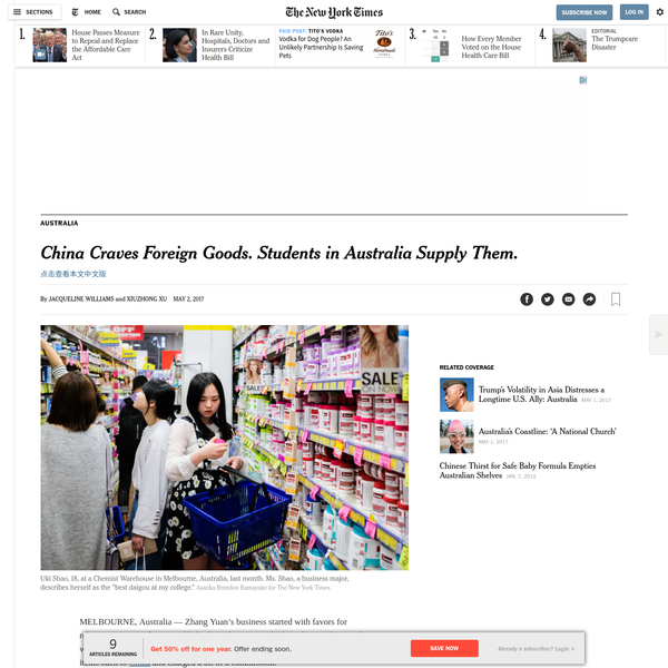China Craves Foreign Goods. Students in Australia Supply Them.