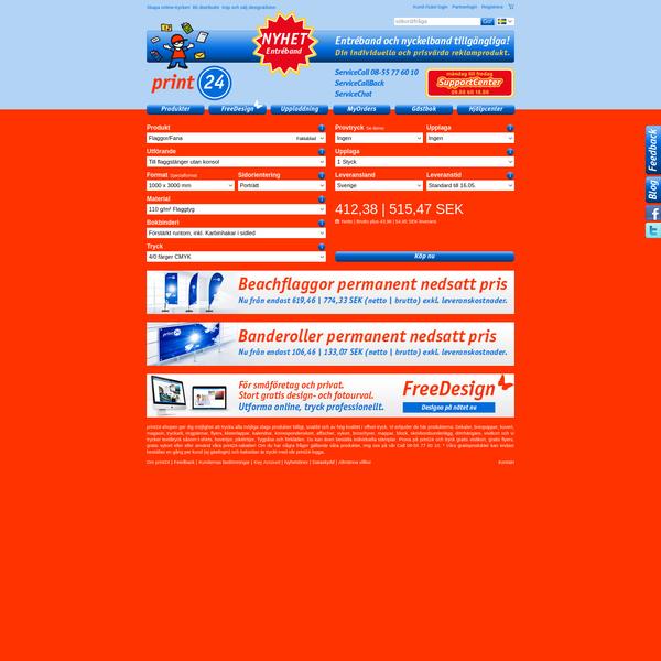 Tryckeri online - Alltid lågt pris och hög kvalité hos print24