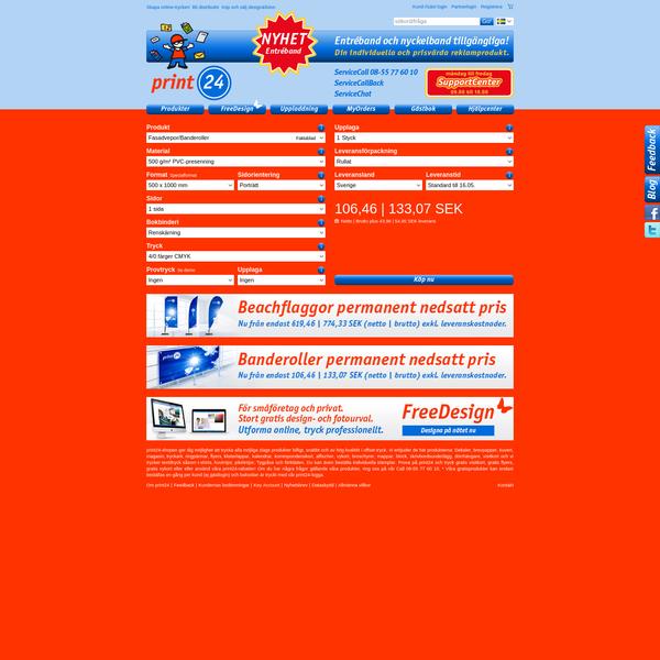 Flyers online till låga priser hos print24