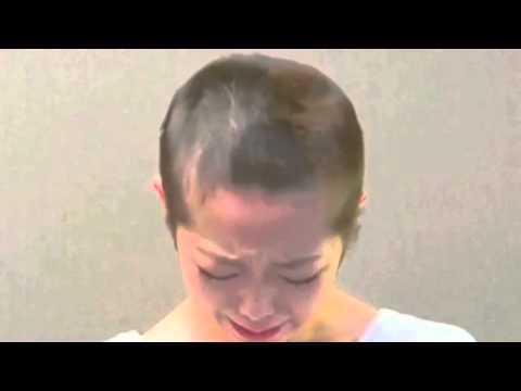 Minami Minegishi shaved head as apology 峯岸みなみからのメッセージ / AKB48 [公式]