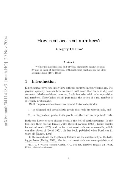 Are na / Theory of Math