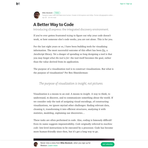 A Better Way to Code - Mike Bostock - Medium
