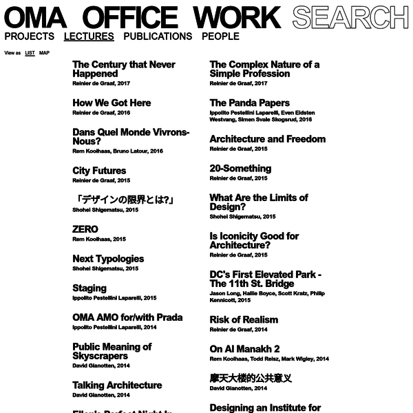 OMA is a leading international partnership practicing architecture, urbanism, and cultural analysis