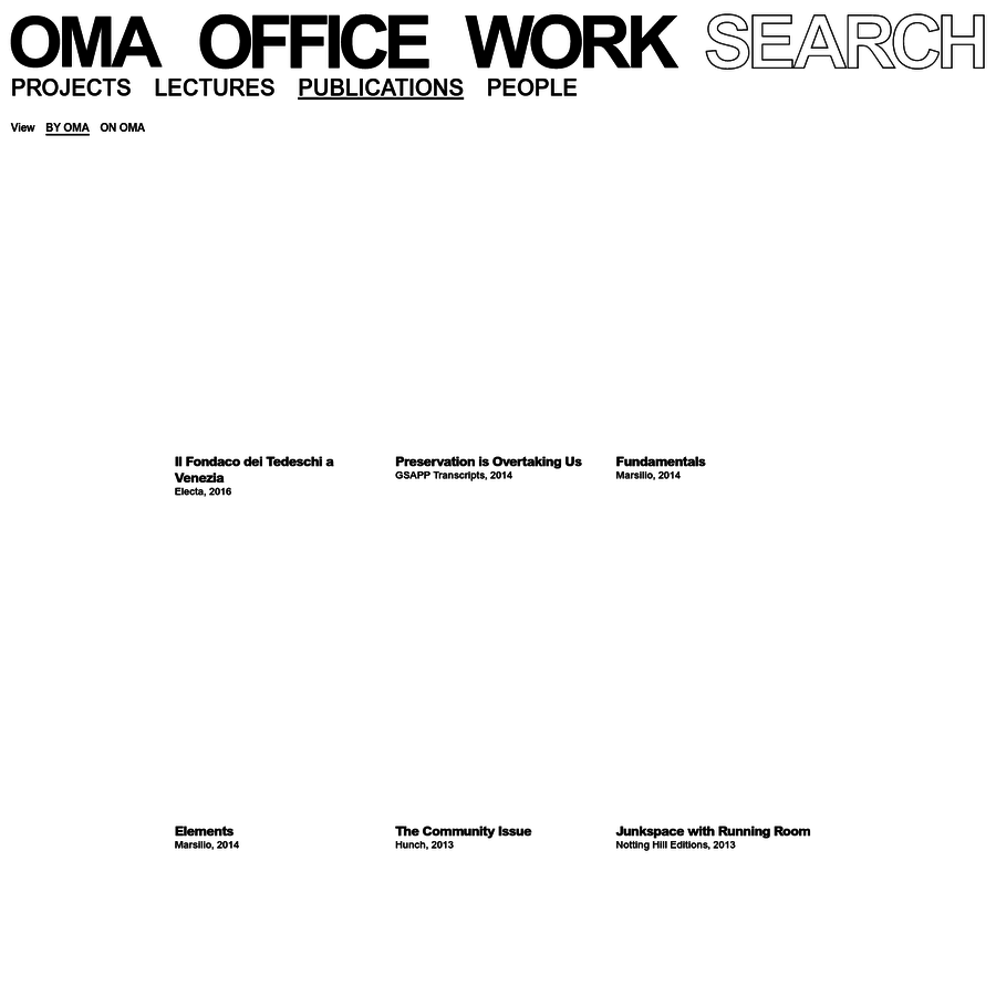 List of OMA publications