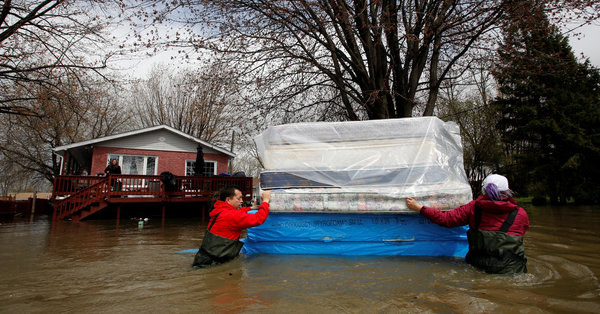 Montreal Flooding Displaces Thousands