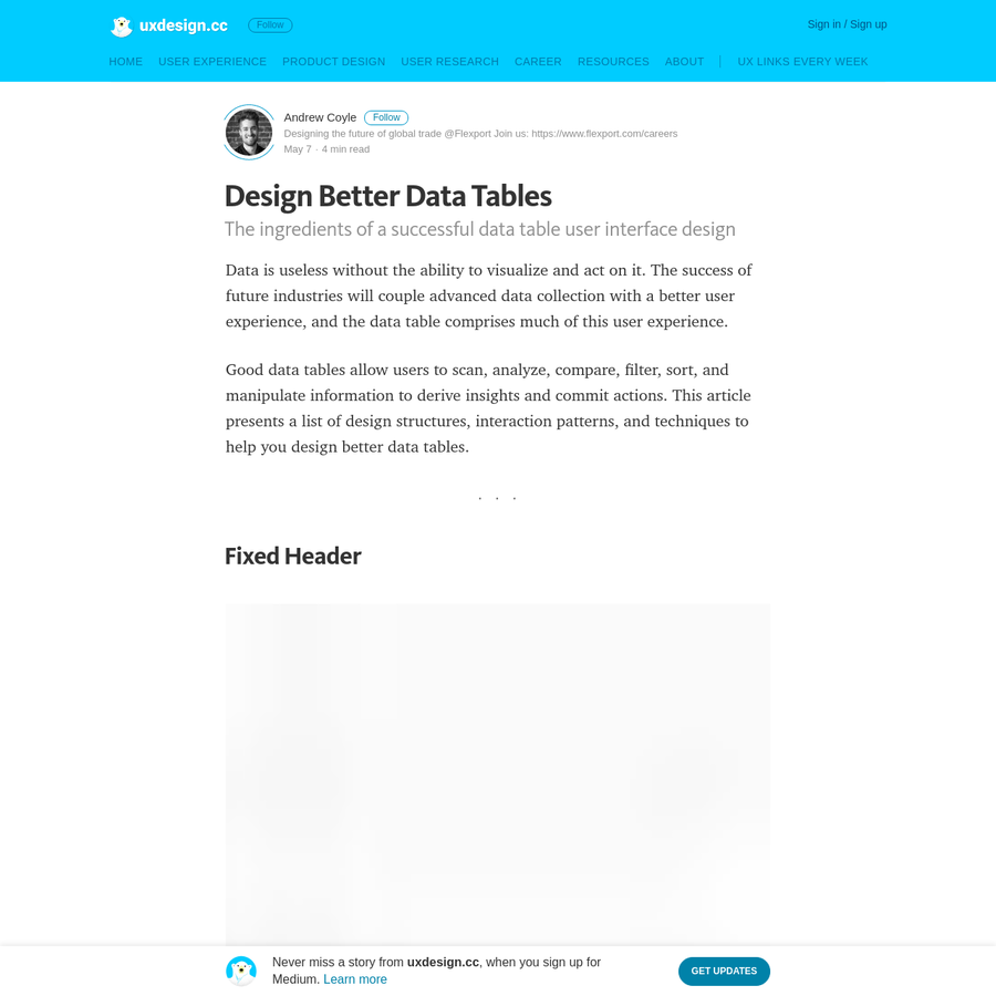 Data is useless without the ability to visualize and act on it. The success of future industries will couple advanced data collection with a better user experience, and the data table comprises much...