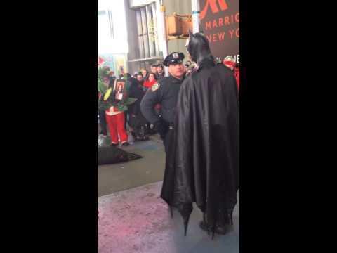 Batman Meltdown in NYC Times Square