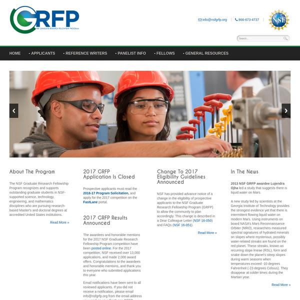 Home - NSF Graduate Research Fellowships Program (GRFP)