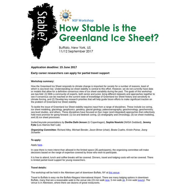 How the Greenland Ice Sheet responds to climate change is important for society for a number of reasons, least of which is sea level rise. Understanding ice sheet stability is central to this effort. However, we do not currently have data or models that allow for a definitive consensus view of ice sheet variability during the past.