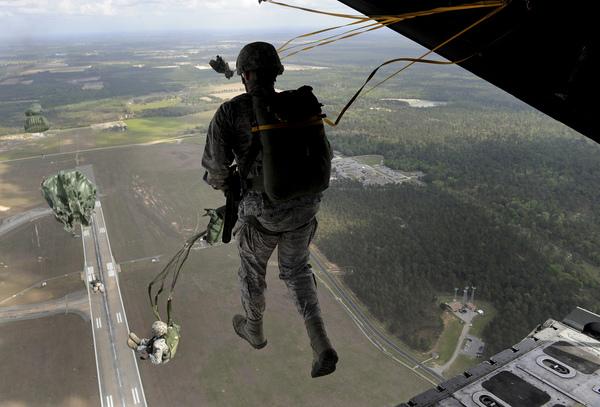 Soldier Walking on Air