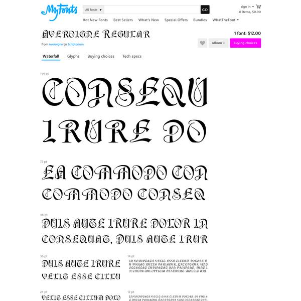 """Averoigne - Desktop font """" MyFonts"""