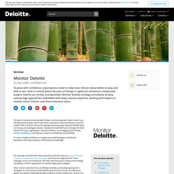 Monitor Deloitte | Deloitte US | Strategy Consulting