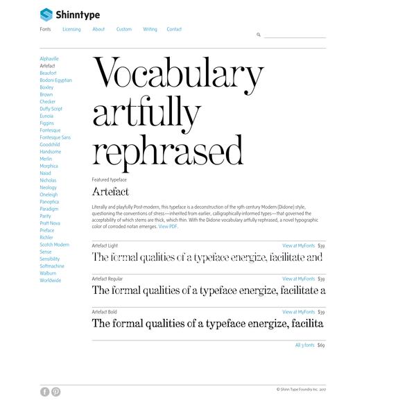 Artefact Font - Shinntype - Modern & Classic Fonts