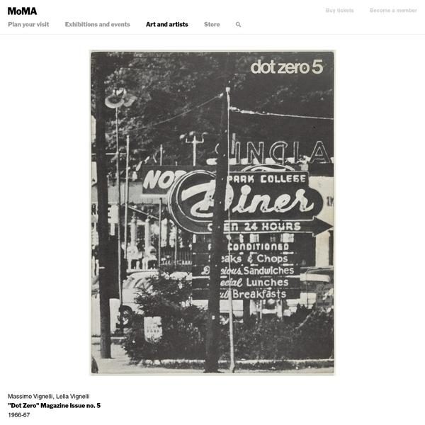 """Massimo Vignelli, Lella Vignelli. """"Dot Zero"""" Magazine Issue no. 5. 1966-67. Lithograph. 12 x 9"""" (30.5 x 22.9 cm). Unimark International Corporation, New York. Gift of the designer. 381.2004.4. Architecture and Design"""