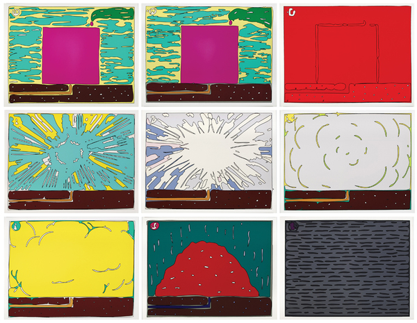 Peter Halley, Exploding Cell (1994)