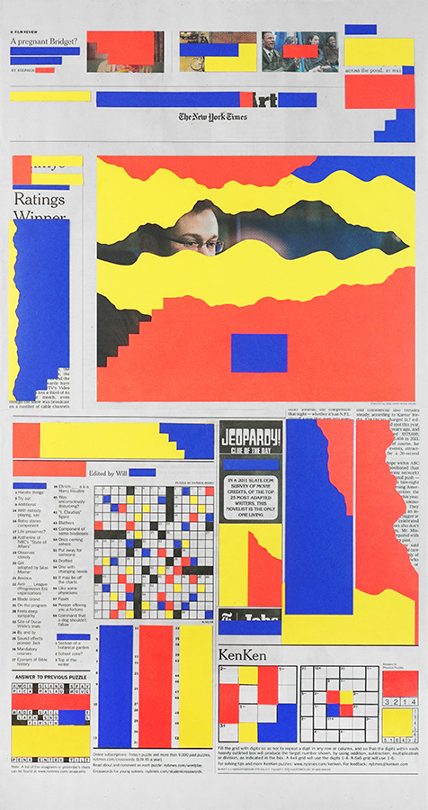 Times Are Tough #1 – Collage on NY Times