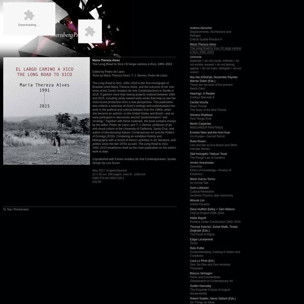 Sternberg Press - Maria Thereza Alves