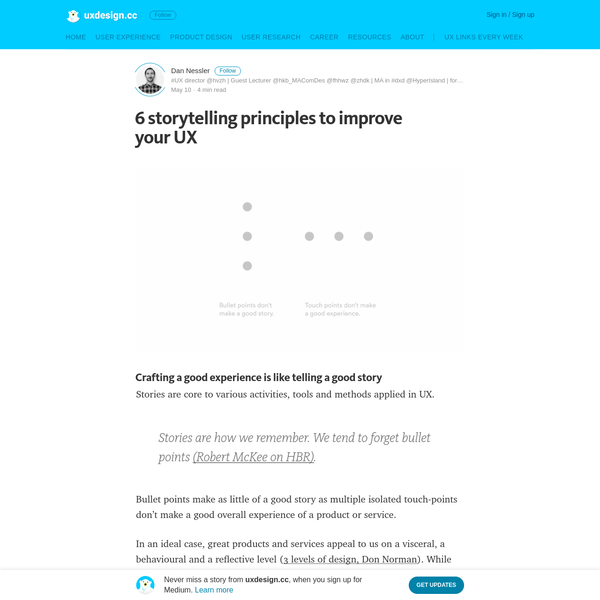 6 storytelling principles to improve your UX - uxdesign.cc