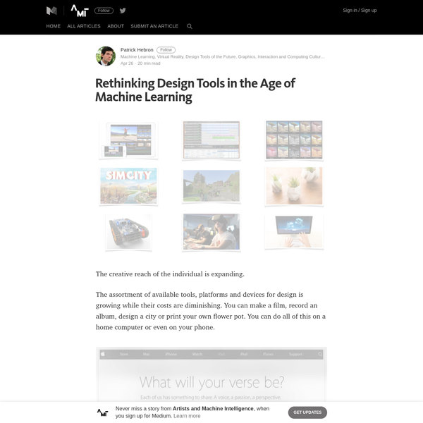 Rethinking Design Tools in the Age of Machine Learning