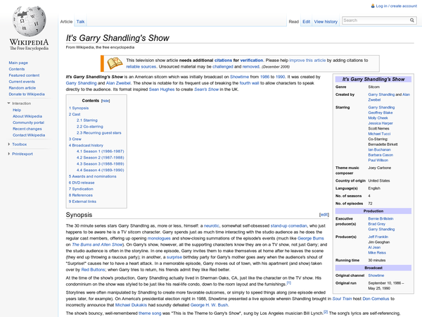 It%27s Garry Shandling%27s Show - Wikipedia, the free encyclopedia
