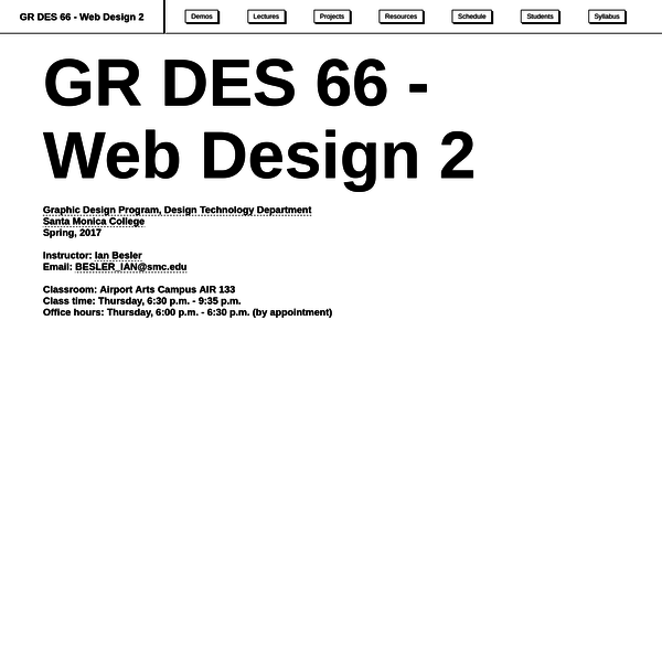 GR DES 66 - Web Design 2