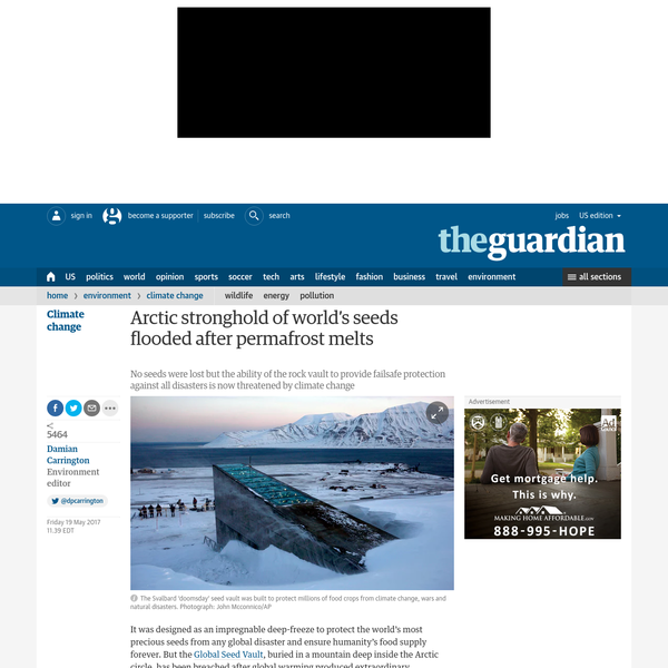 It was designed as an impregnable deep-freeze to protect the world's most precious seeds from any global disaster and ensure humanity's food supply forever. But the Global Seed Vault, buried in a mountain deep inside the Arctic circle, has been breached after global warming produced extraordinary temperatures over the winter, sending meltwater gushing into the entrance tunnel.