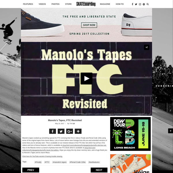 Manolo's tapes cooked up something special for FTC remixing their first 2 videos Finally and Penal Code 100a using some of the original tapes from Aaron Meza. Lots of never before seen footage from this era and extended versions of some lines you've already seen.