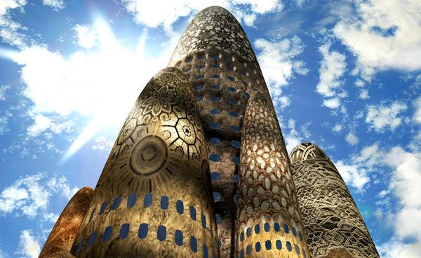 Gaudi render by (Art)n