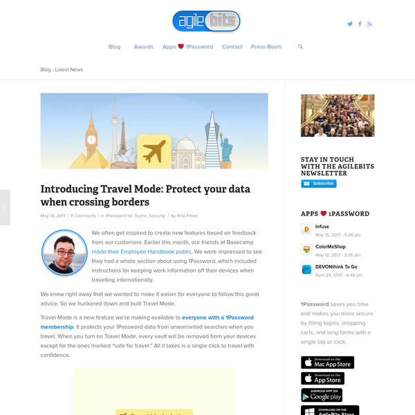 Introducing Travel Mode: Protect your data when crossing borders
