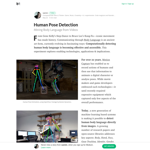 Human Pose Detection - samim - Medium