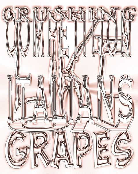 """CRUSHING COMPETITION LIKE ITALIANS ON GRAPES"" Artwork for the new Brick magazine Issue"