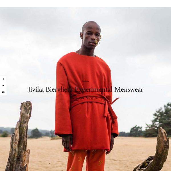 Jivika Biervliet's Experimental Menswear