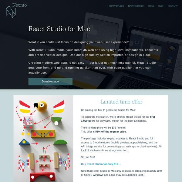 React Studio - Visual Mac tool for React js web apps