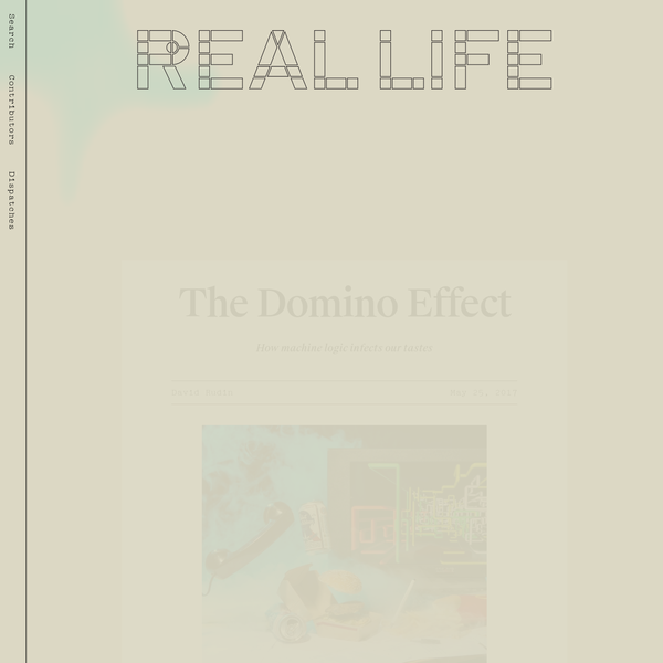 The Domino Effect - Real Life