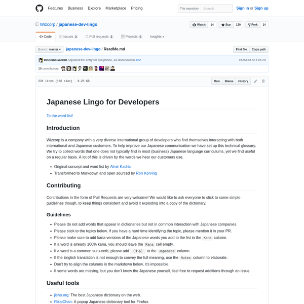 Wizcorp/japanese-dev-lingo