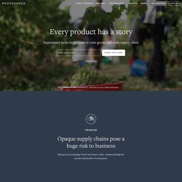 We use tech to help retailers and brands bring transparency and traceability to their businesses and products.