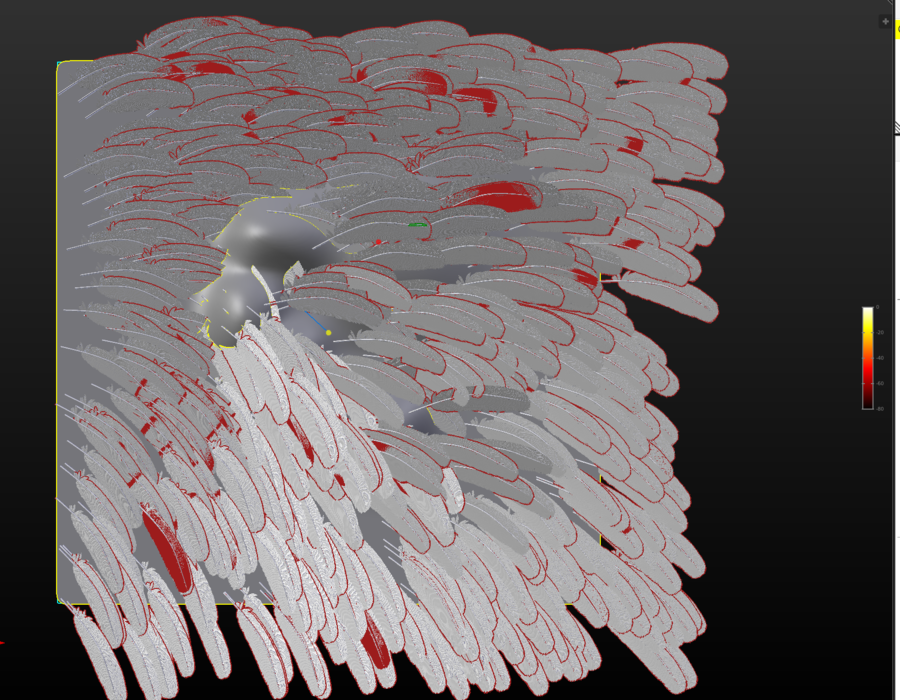 """made feather object worked on """"wing"""" particle setup"""