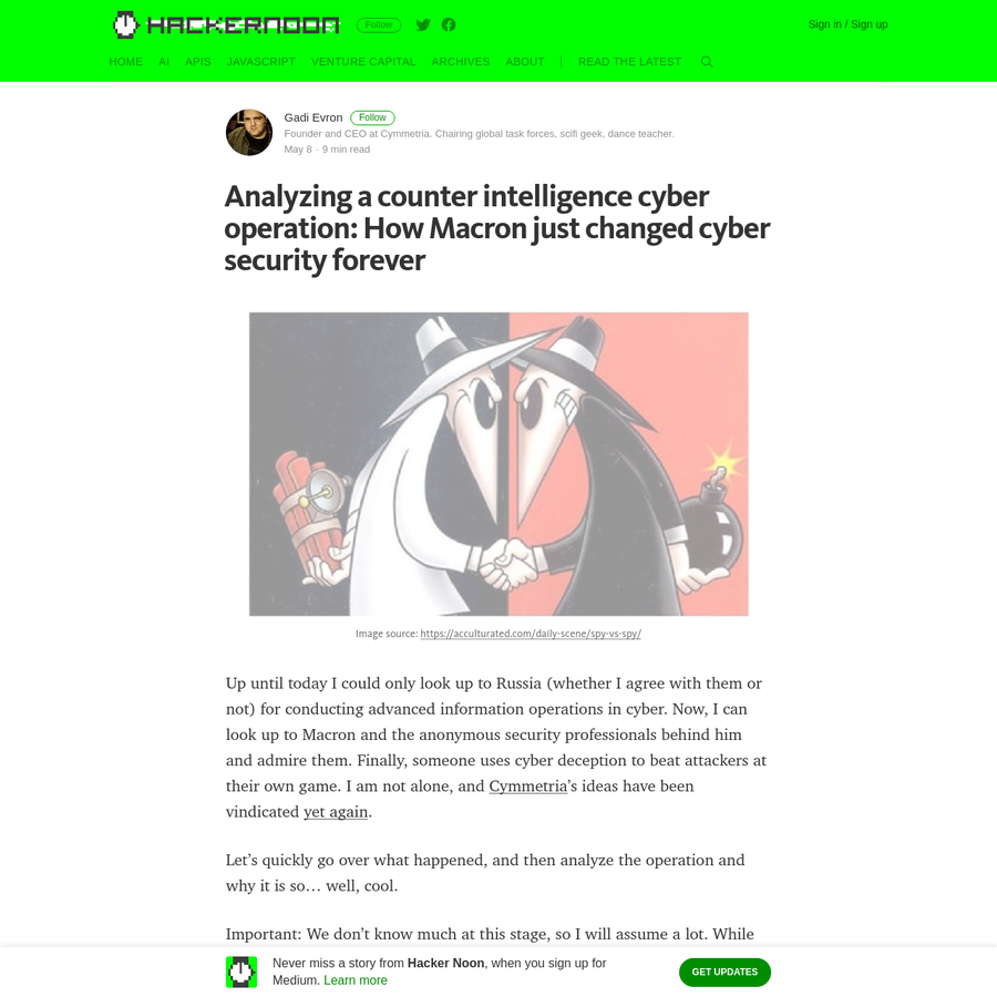 Up until today I could only look up to Russia (whether I agree with them or not) for conducting advanced information operations in cyber. Now, I can look up to Macron and the anonymous security professionals behind him and admire them. Finally, someone uses cyber deception to beat attackers at their own game.