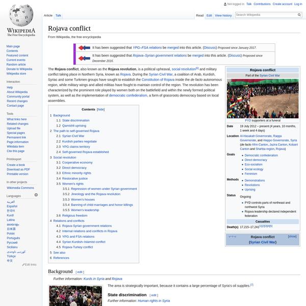 Rojava conflict - Wikipedia