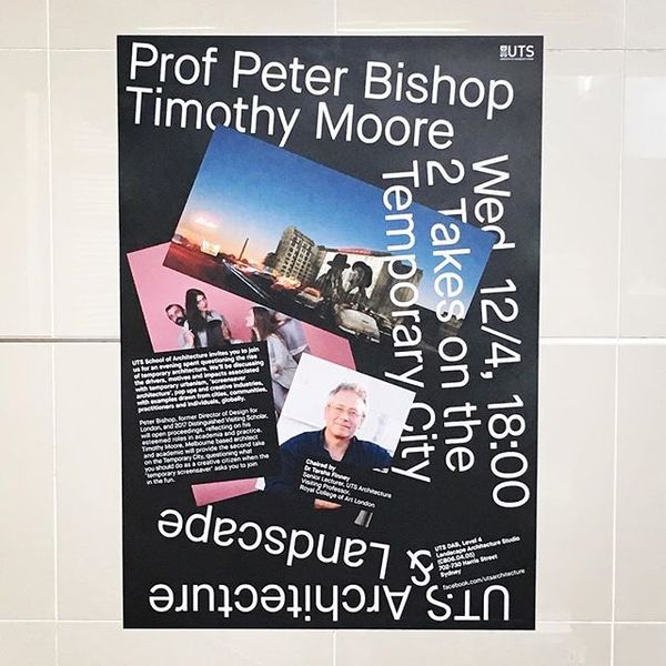 More of our A1 posters for Rhys Williams and Andrew Toland's great lecture series going up around the architecture school! @utsarchitecture @utsdab