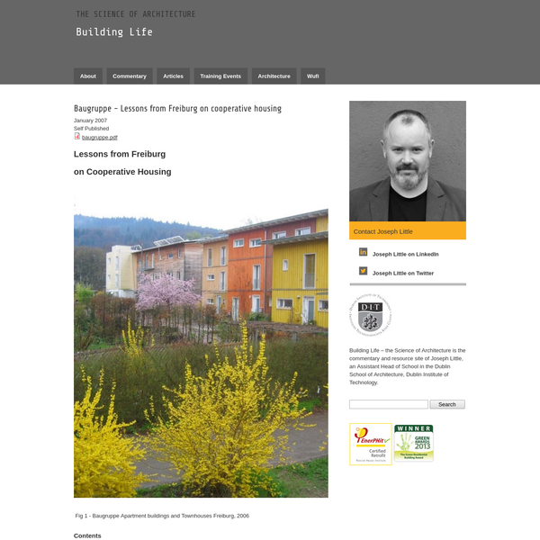 Baugruppe - Lessons from Freiburg on cooperative housing