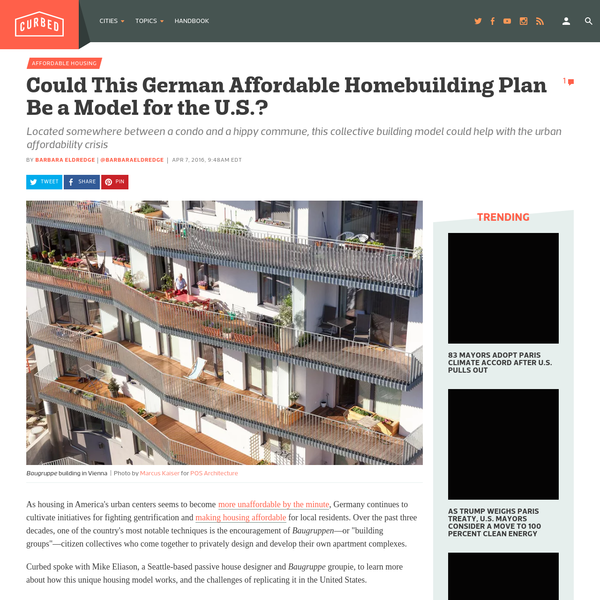 Could This German Affordable Homebuilding Plan Be a Model for the U.S.?