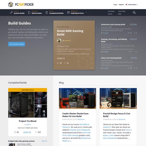 Pick parts. Build your PC. Compare and share. - PCPartPicker