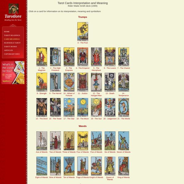 Tarot Cards Interpretation and Meaning - Tarotlore
