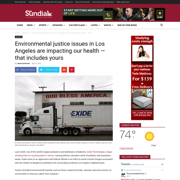 Last month, one of the world's largest producers and distributors of batteries, Exide Technologies, began shutting down its recycling plant in Vernon, leaving behind a decade's worth of pollution and hazardous waste. Exide came to an agreement with federal officials in an effort to avoid criminal charges associated with the release of dangerous pollutants into surrounding southeast Los Angeles neighborhoods.