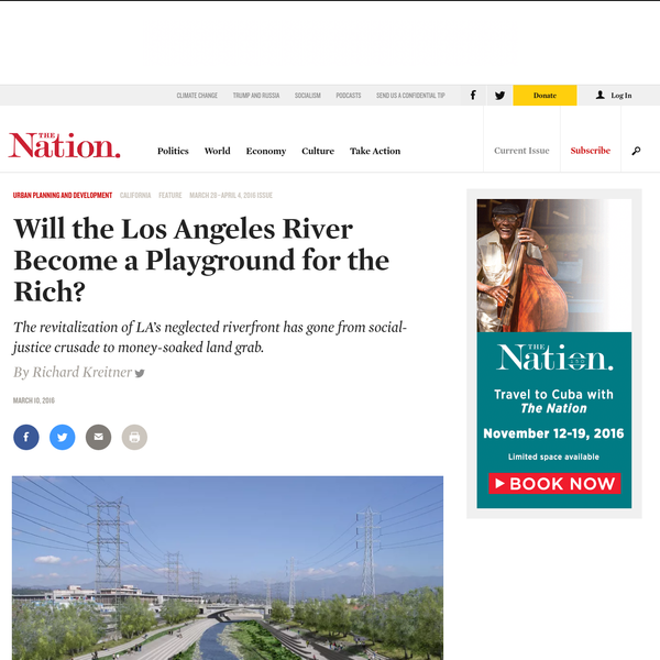 * * The Los Angeles River is about to be reborn. Winding 51 miles from the San Fernando Valley past downtown and through South-Central cities like Vernon and Compton, the long-ignored watercourse has become the focus of an explosion of civic imagineering.