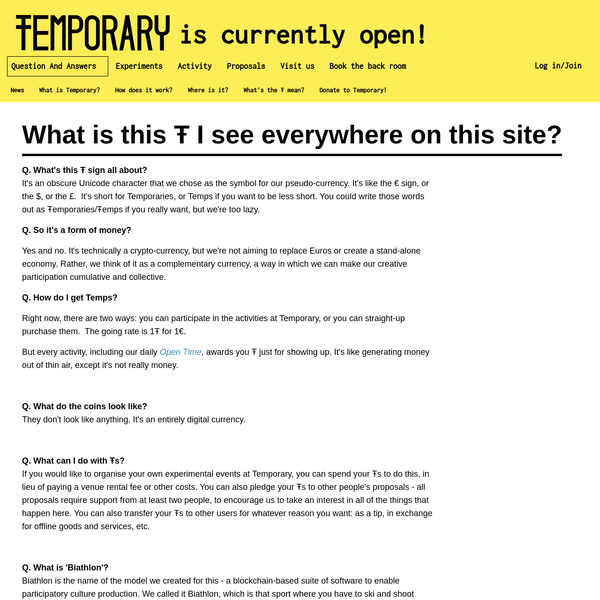 Temporary is not on Facebook.